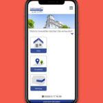 iPhone Mockup mit Responsive-Website von Farthmann Immobilien